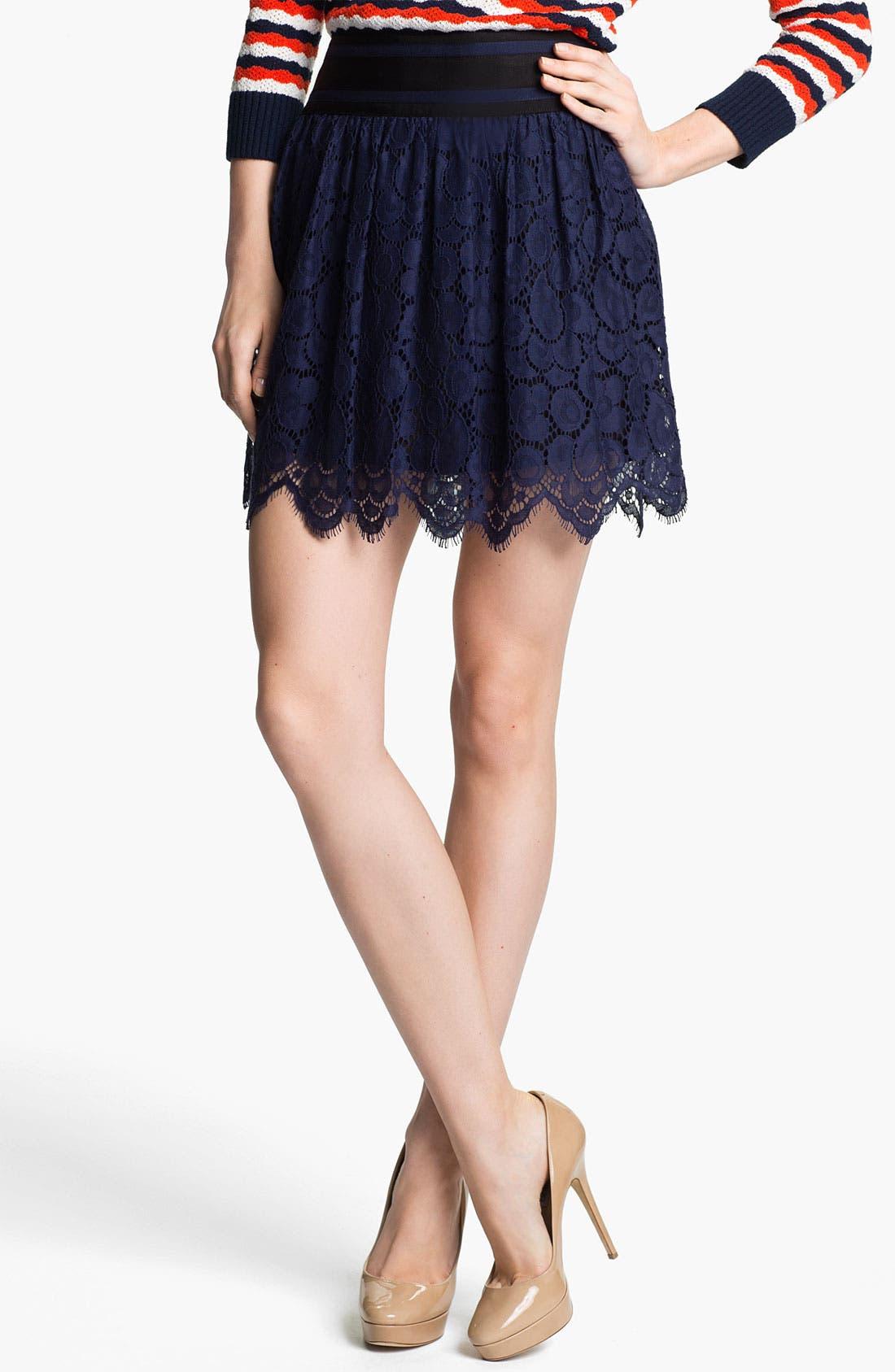 Main Image - Milly Lace Miniskirt