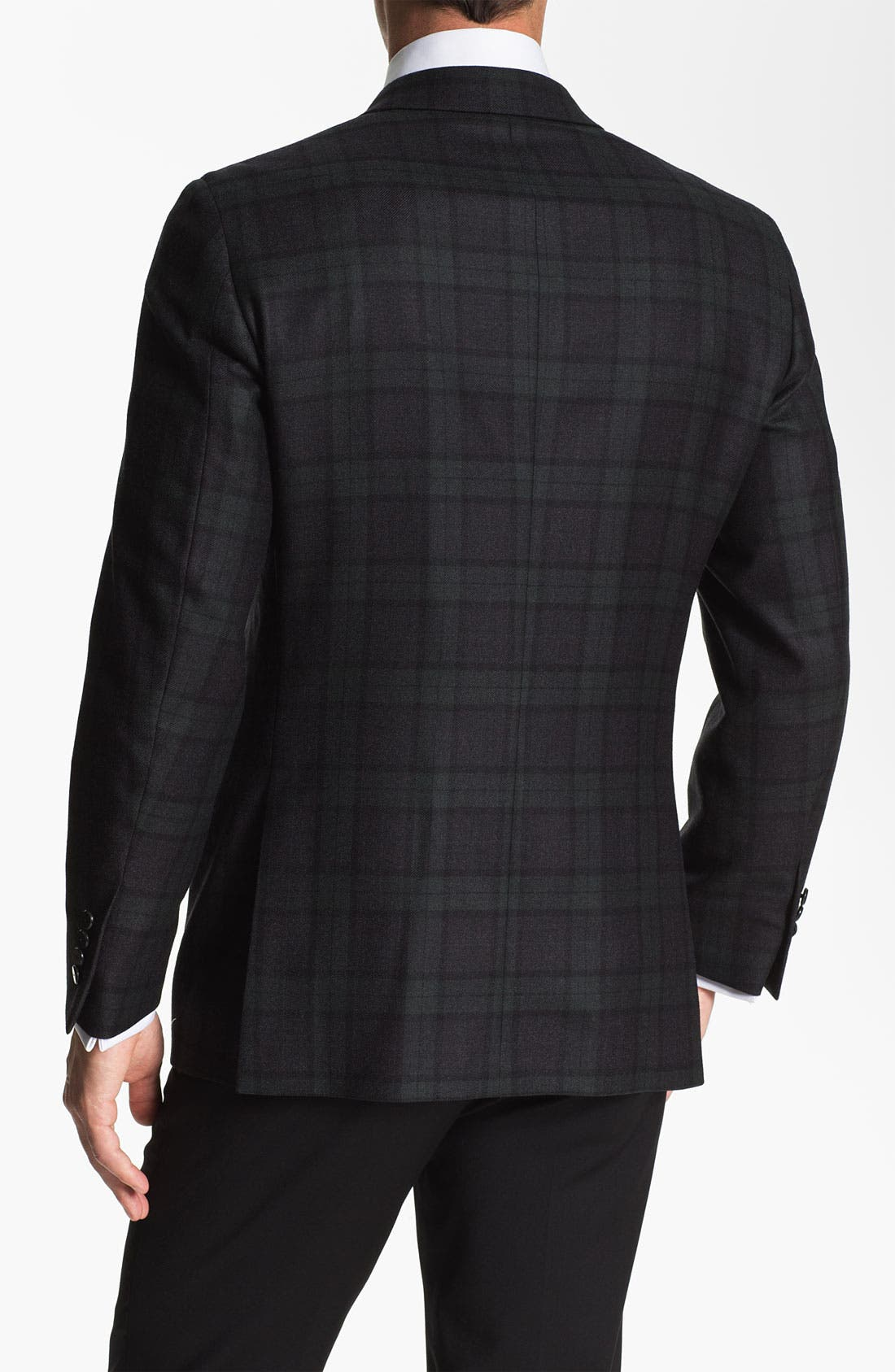 Alternate Image 2  - Samuelsohn Plaid Dinner Jacket