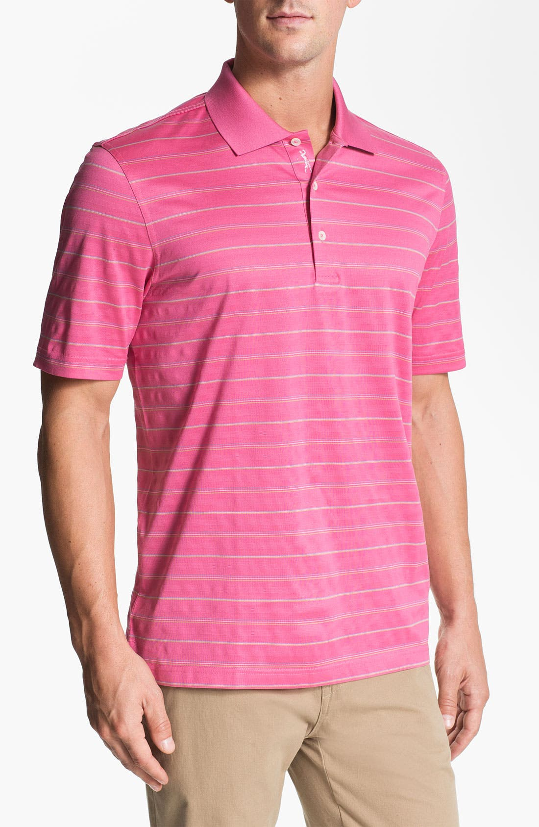 Main Image - Bobby Jones 'Textured Stripe' Golf Polo