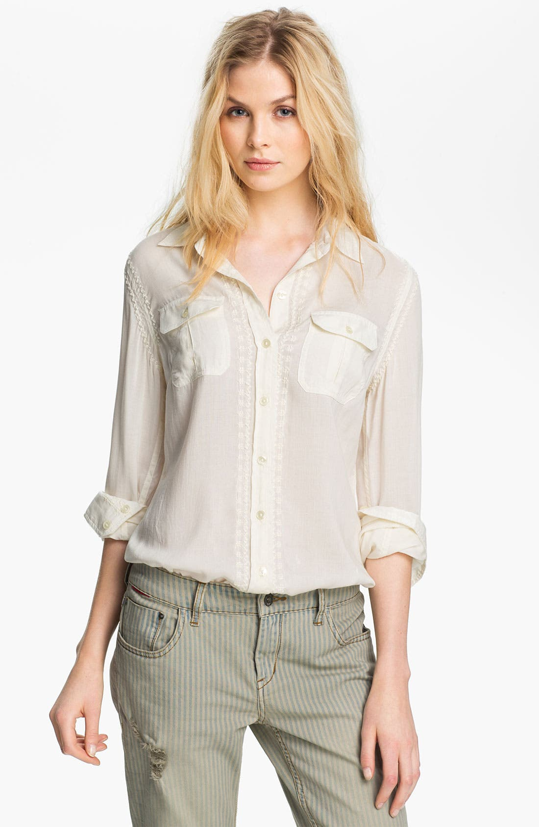 Alternate Image 1 Selected - Lucky Brand 'Joan - French Knot' Shirt
