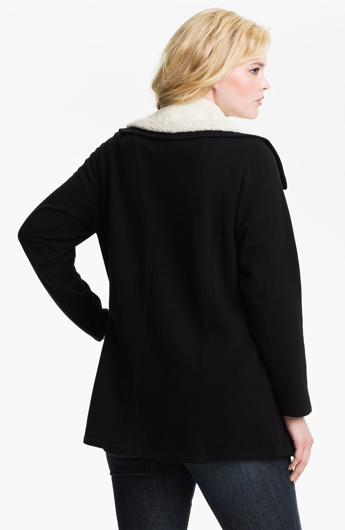 Alternate Image 2  - Sejour Fleece Collar French Terry Jacket (Plus)