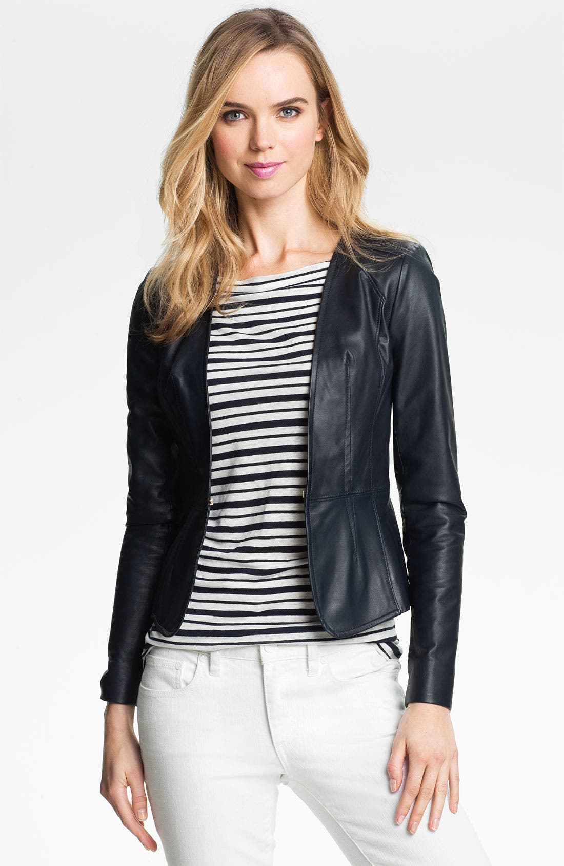 Main Image - Tory Burch 'Abby' Leather Jacket