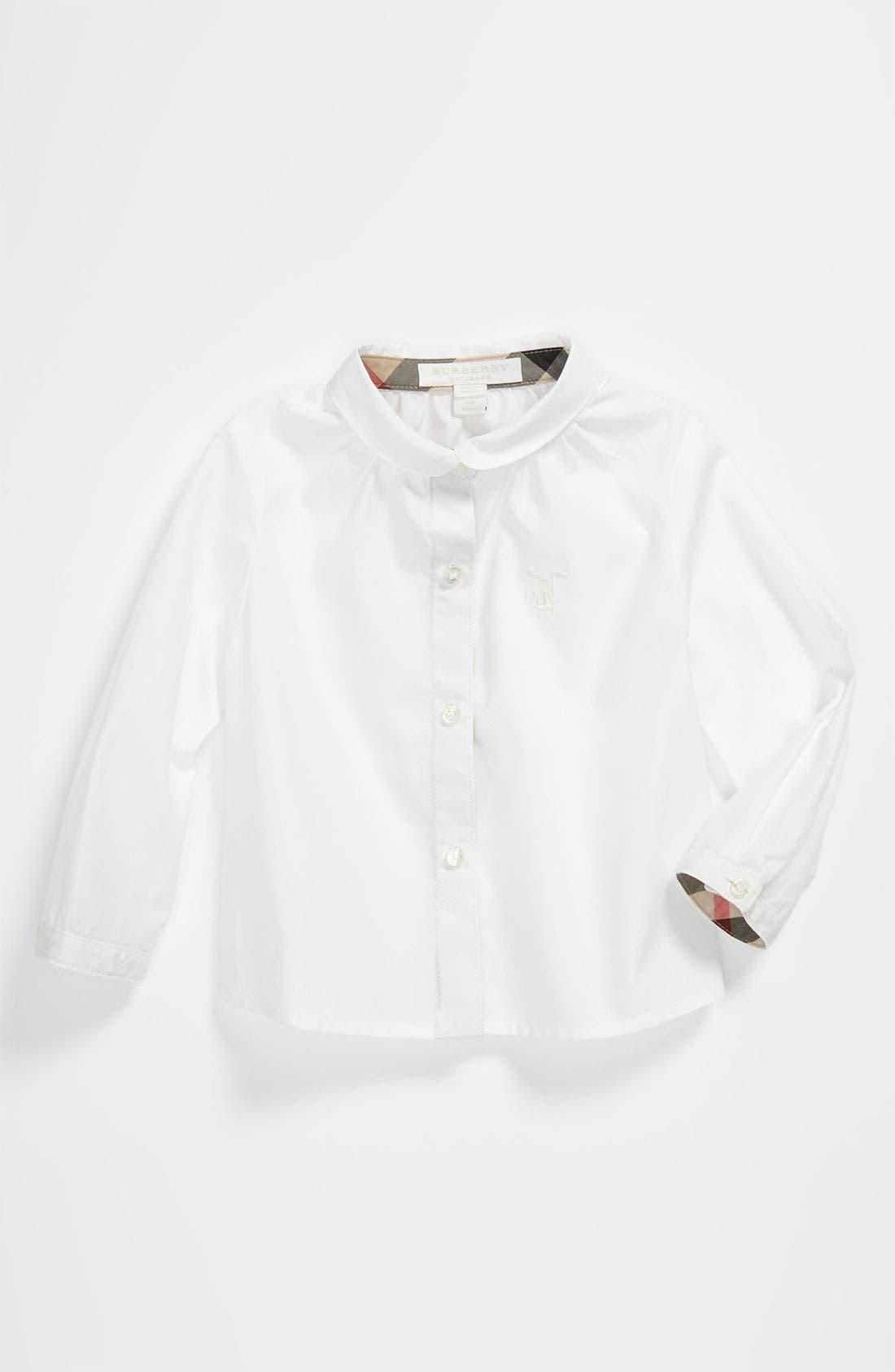 Alternate Image 1 Selected - Burberry Woven Shirt (Toddler)