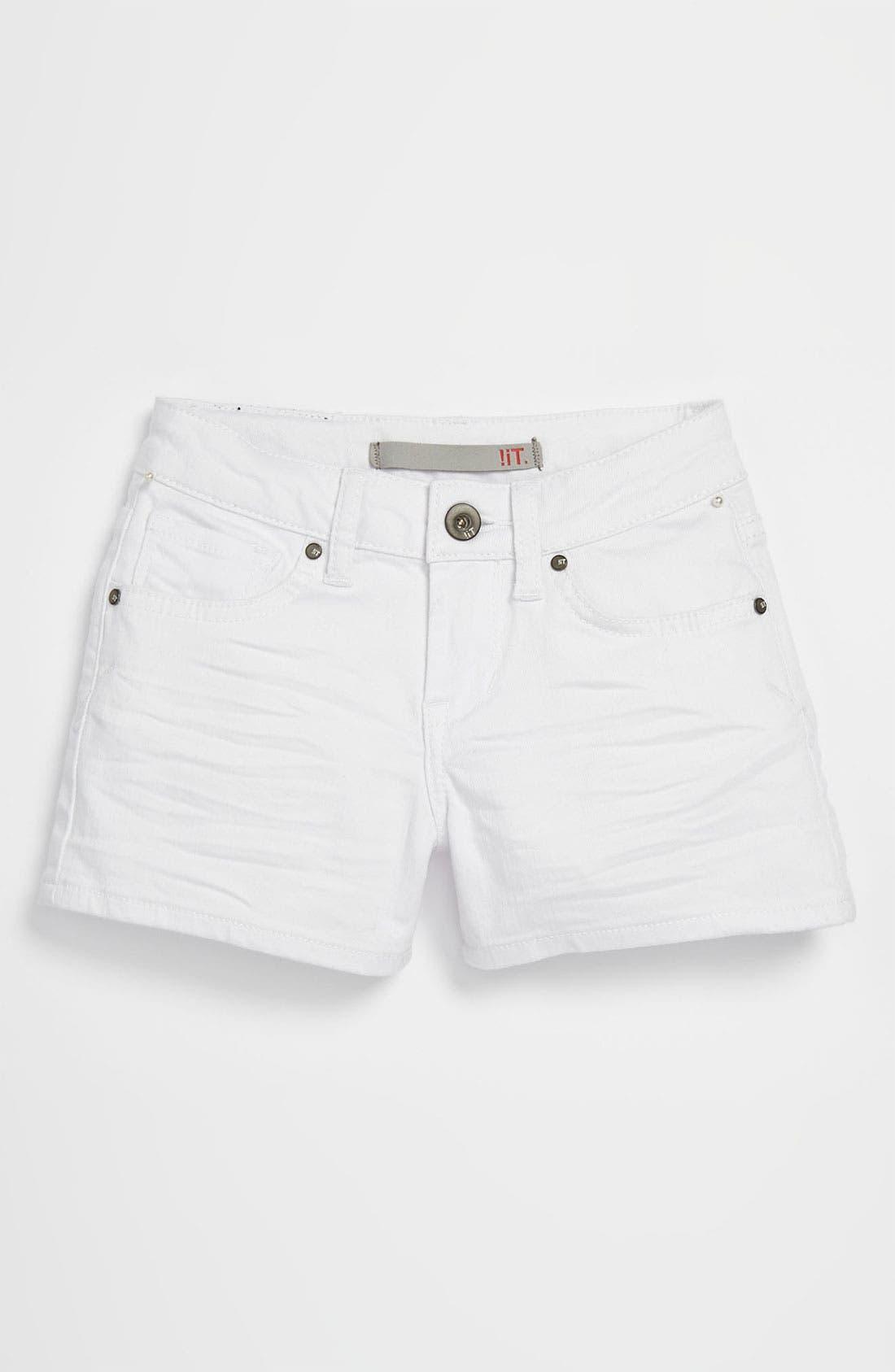 Alternate Image 2  - !iT JEANS Denim Shorts (Big Girls)