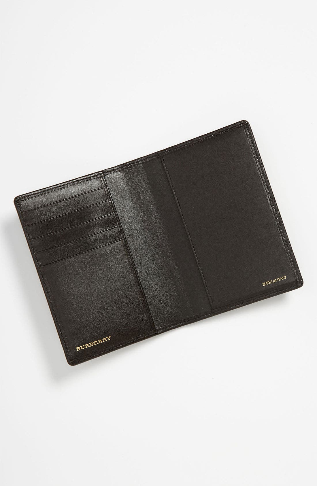 Alternate Image 3  - Burberry 'Haymarket Check' Passport Wallet