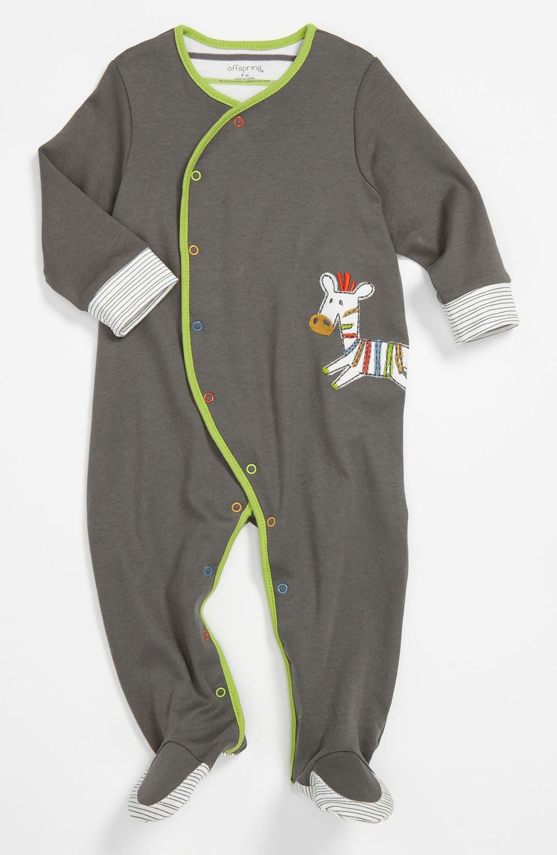 Alternate Image 1 Selected - Offspring Footie (Infant)