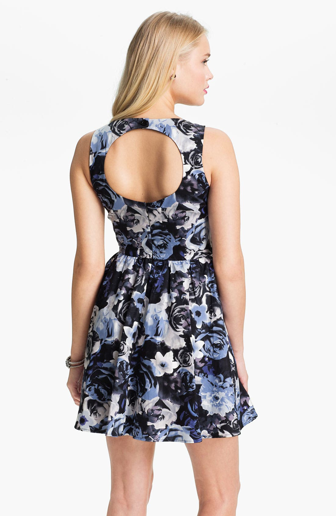 Alternate Image 2  - Mimi Chica Print Sleeveless Dress (Juniors)