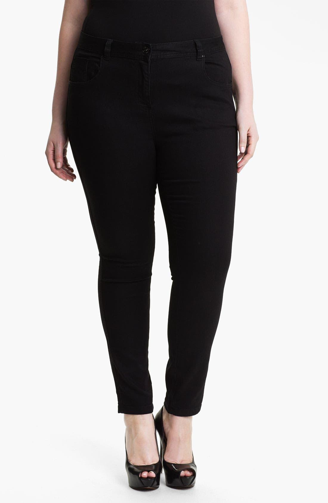 Main Image - Evans 'Super Stretch' Jeans (Plus Size)