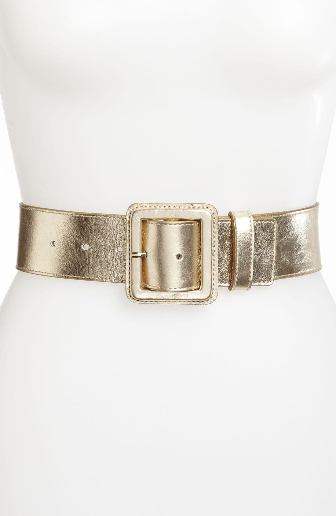 Alternate Image 1 Selected - St. John Collection Wide Leather Belt