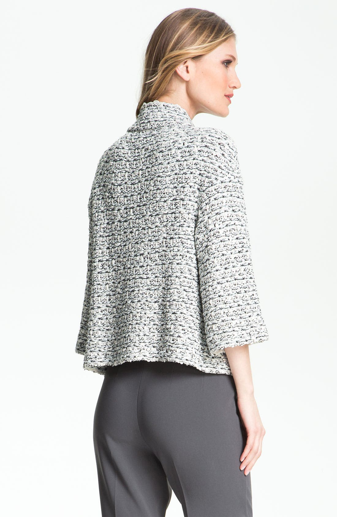 Alternate Image 3  - St. John Collection Organza Tape Tweed Knit Jacket