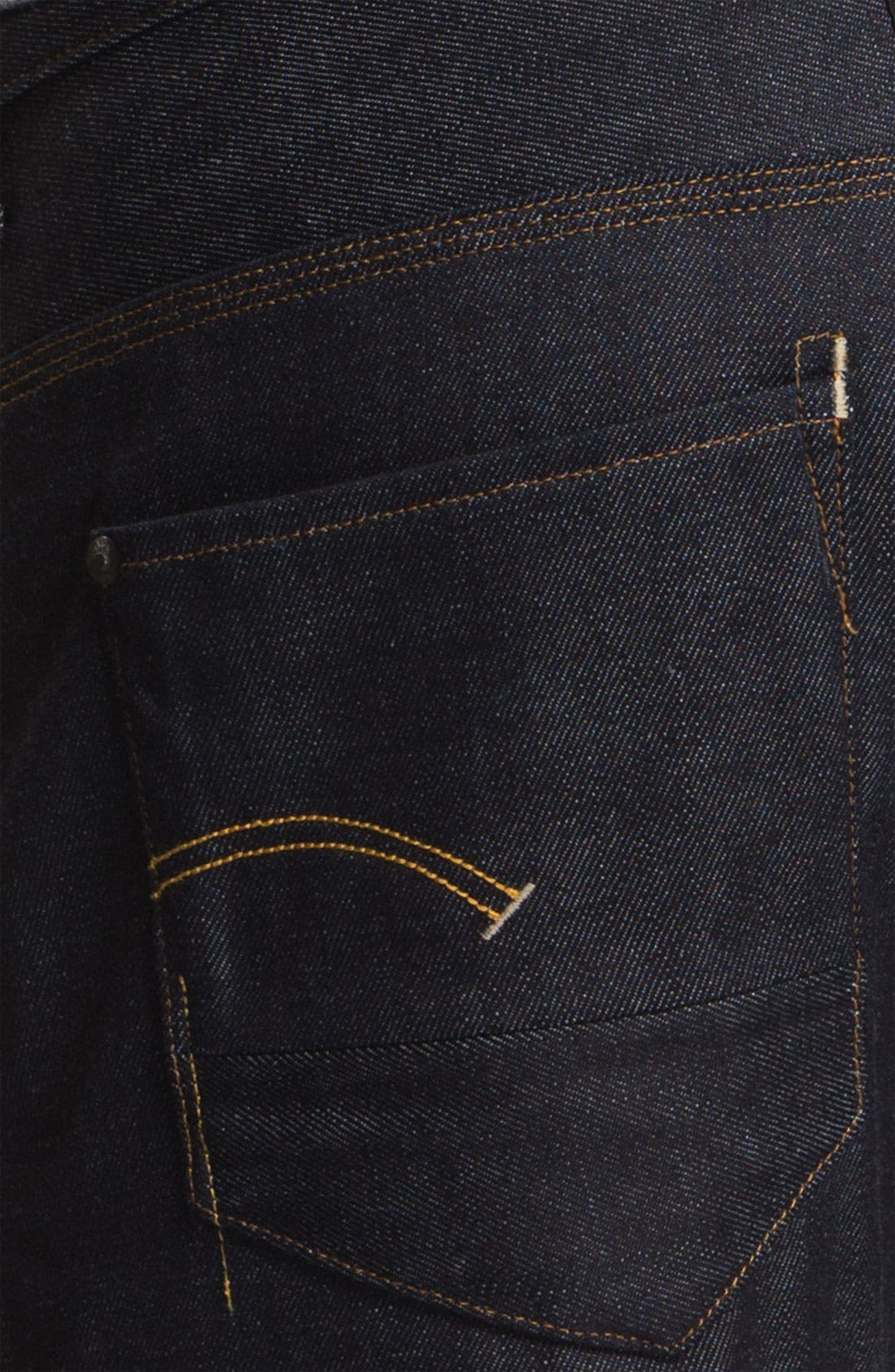 Alternate Image 4  - G-Star Raw 'New Radar' Slim Straight Leg Jeans (Rigid Raw)