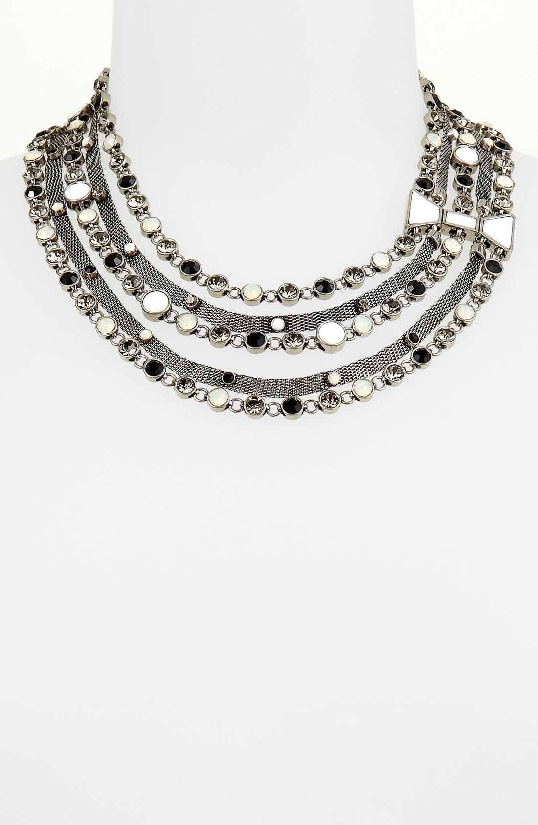 Main Image - MARC BY MARC JACOBS 'Polka Dot' Bow Multistrand Statement Necklace
