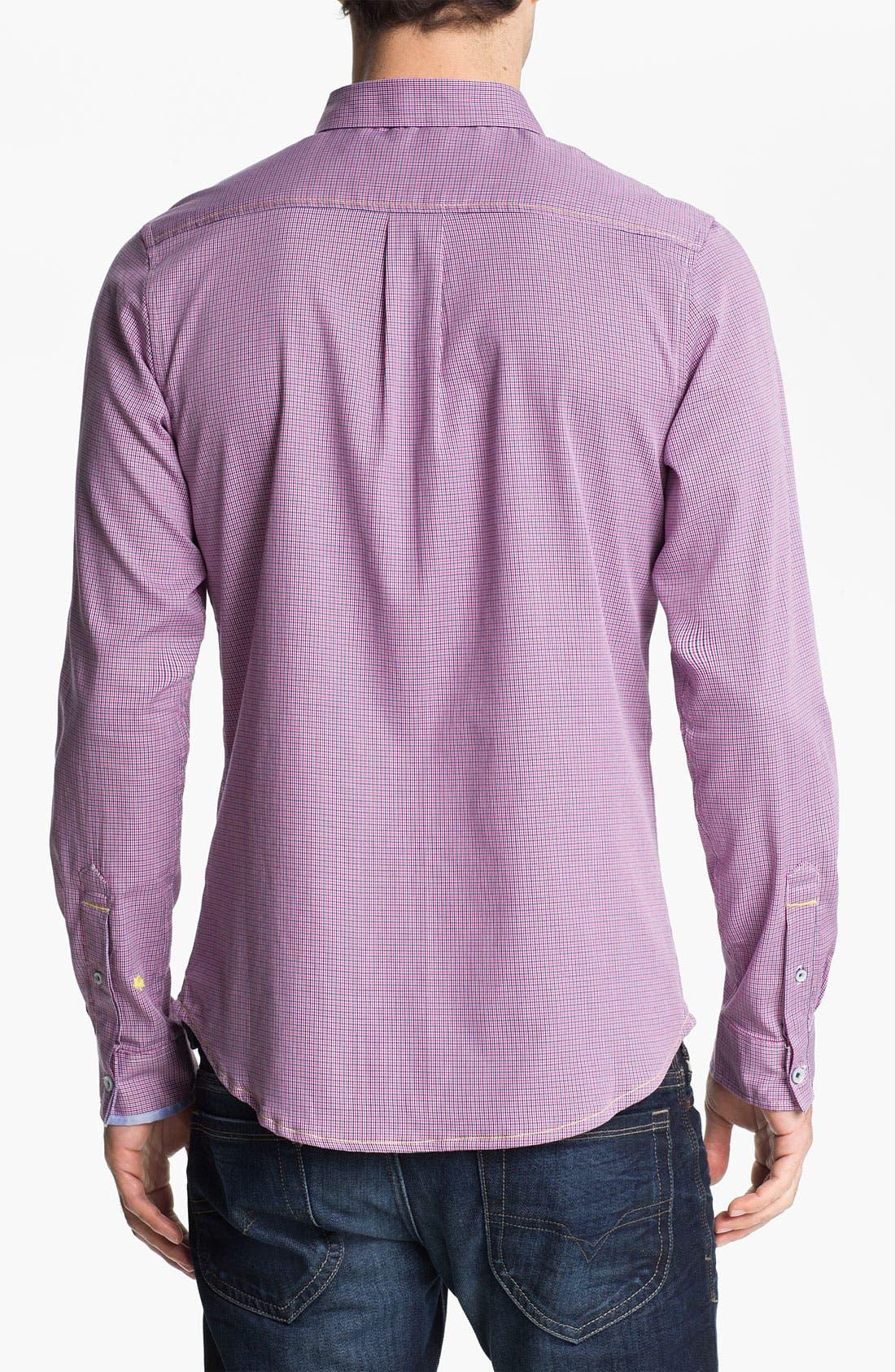 Alternate Image 2  - Descendant of Thieves Broken Gingham Woven Shirt