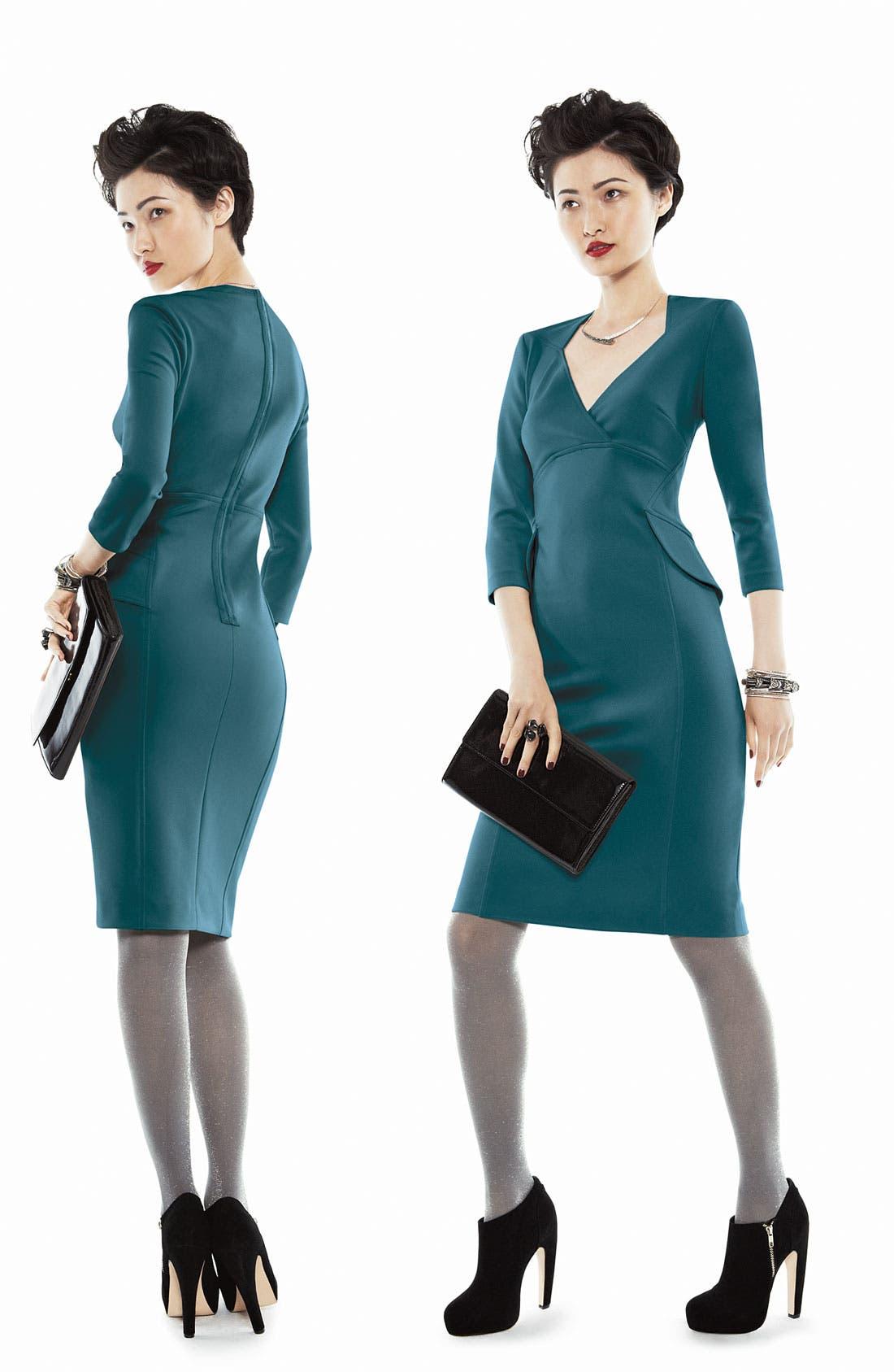 Alternate Image 5  - Maggy London Side Peplum Sheath Dress
