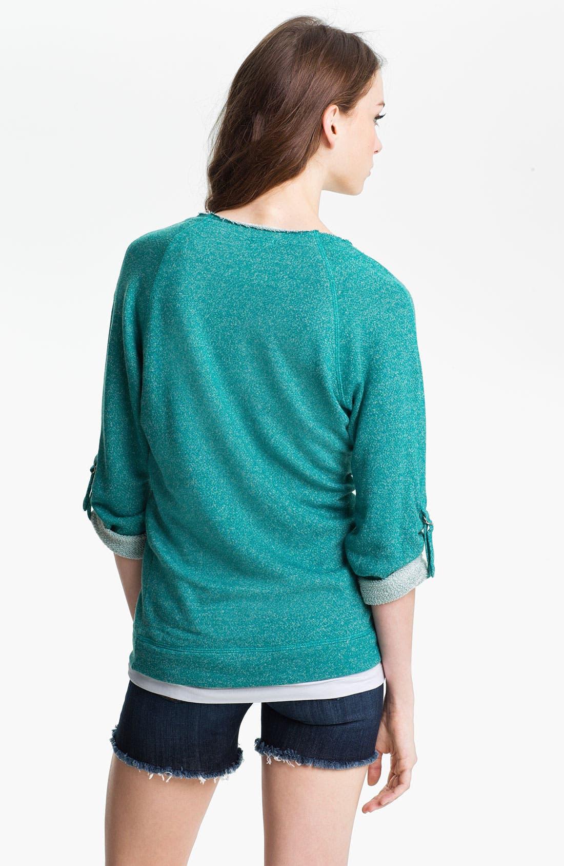 Alternate Image 2  - KUT from the Kloth Tab Sleeve Sweatshirt