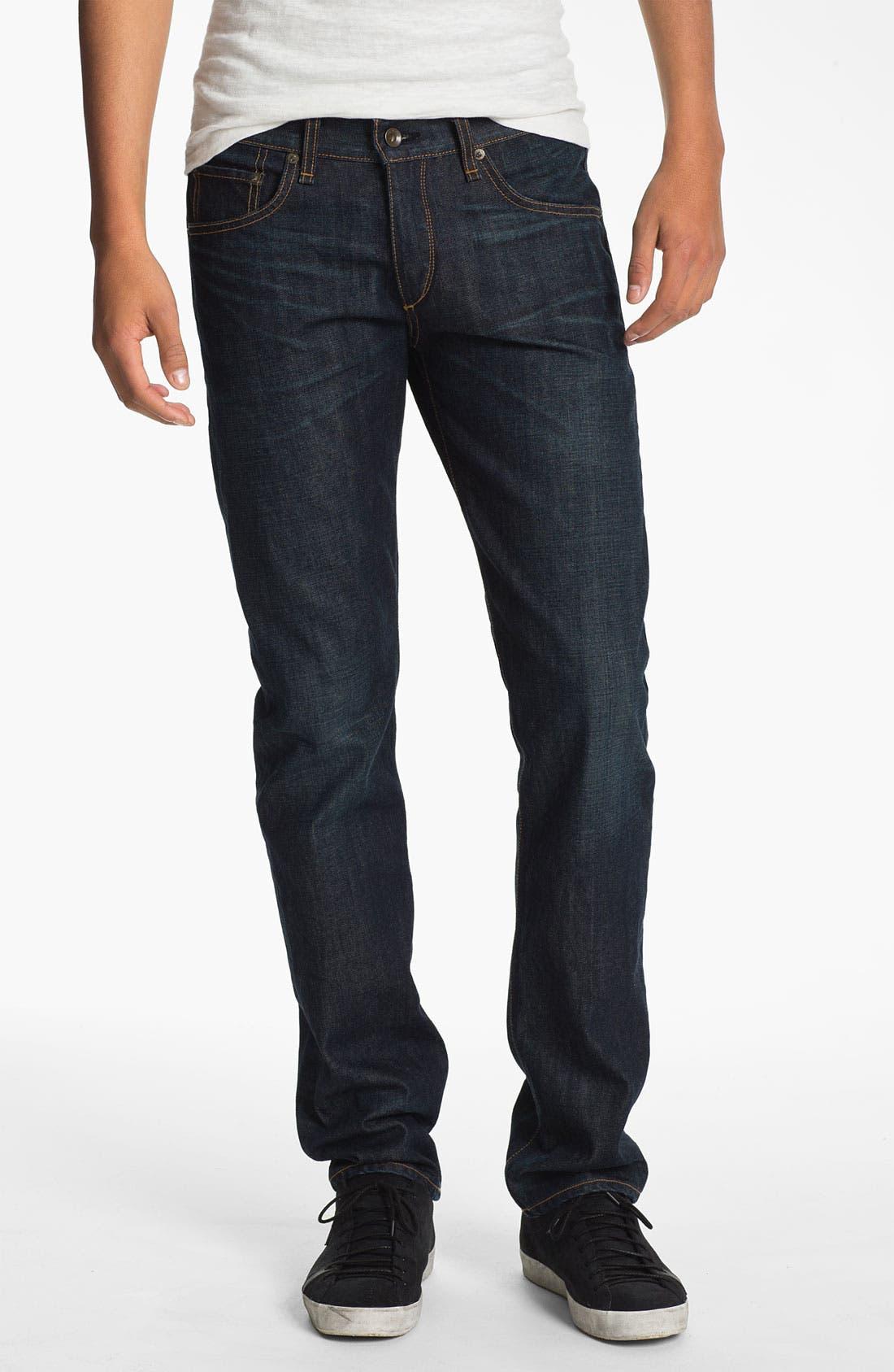 Alternate Image 1 Selected - rag & bone 'RB19X' Slim Straight Leg Jeans (Dover Blue)