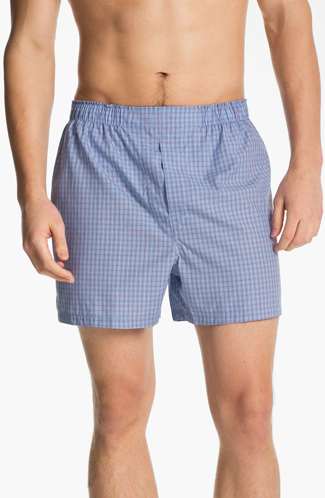 Alternate Image 1 Selected - Brooks Brothers Check Boxers
