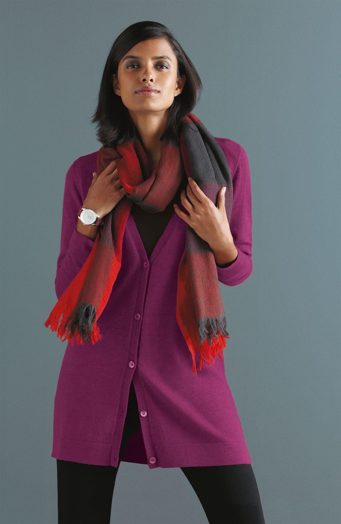Alternate Image 4  - Eileen Fisher Fringed Wool Scarf