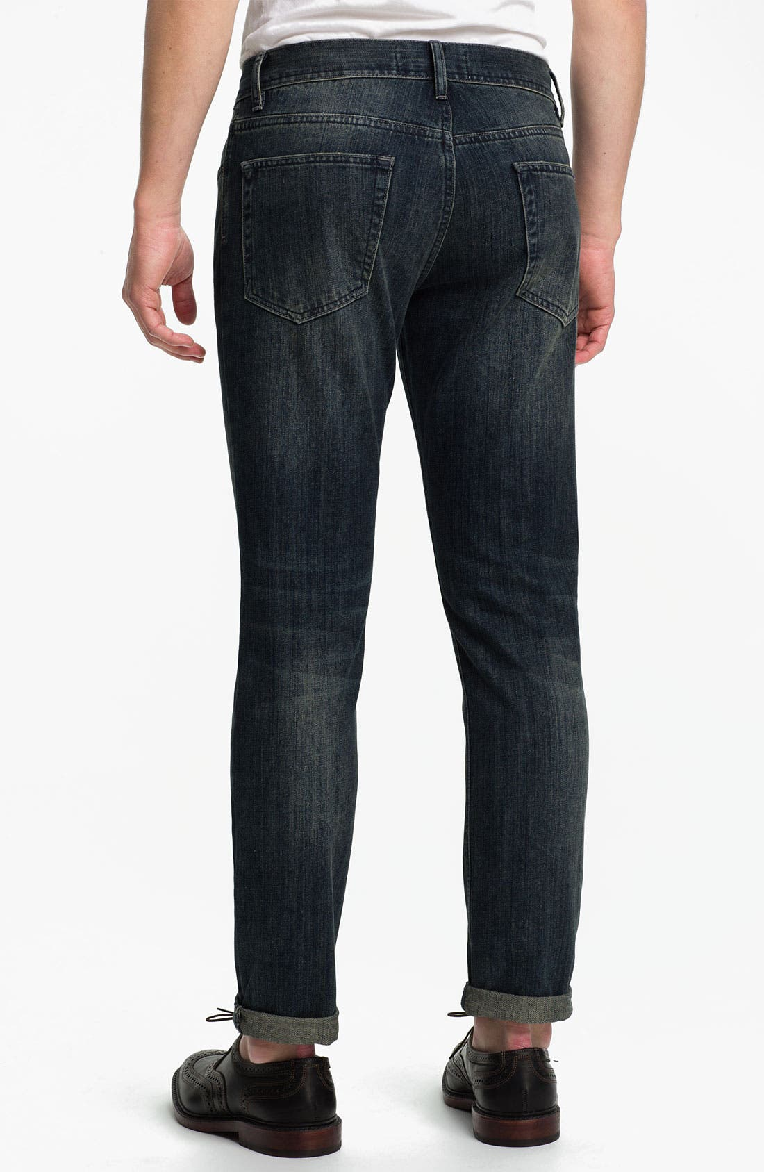 Alternate Image 2  - Topman Skinny Fit Jeans (Dark Blue)