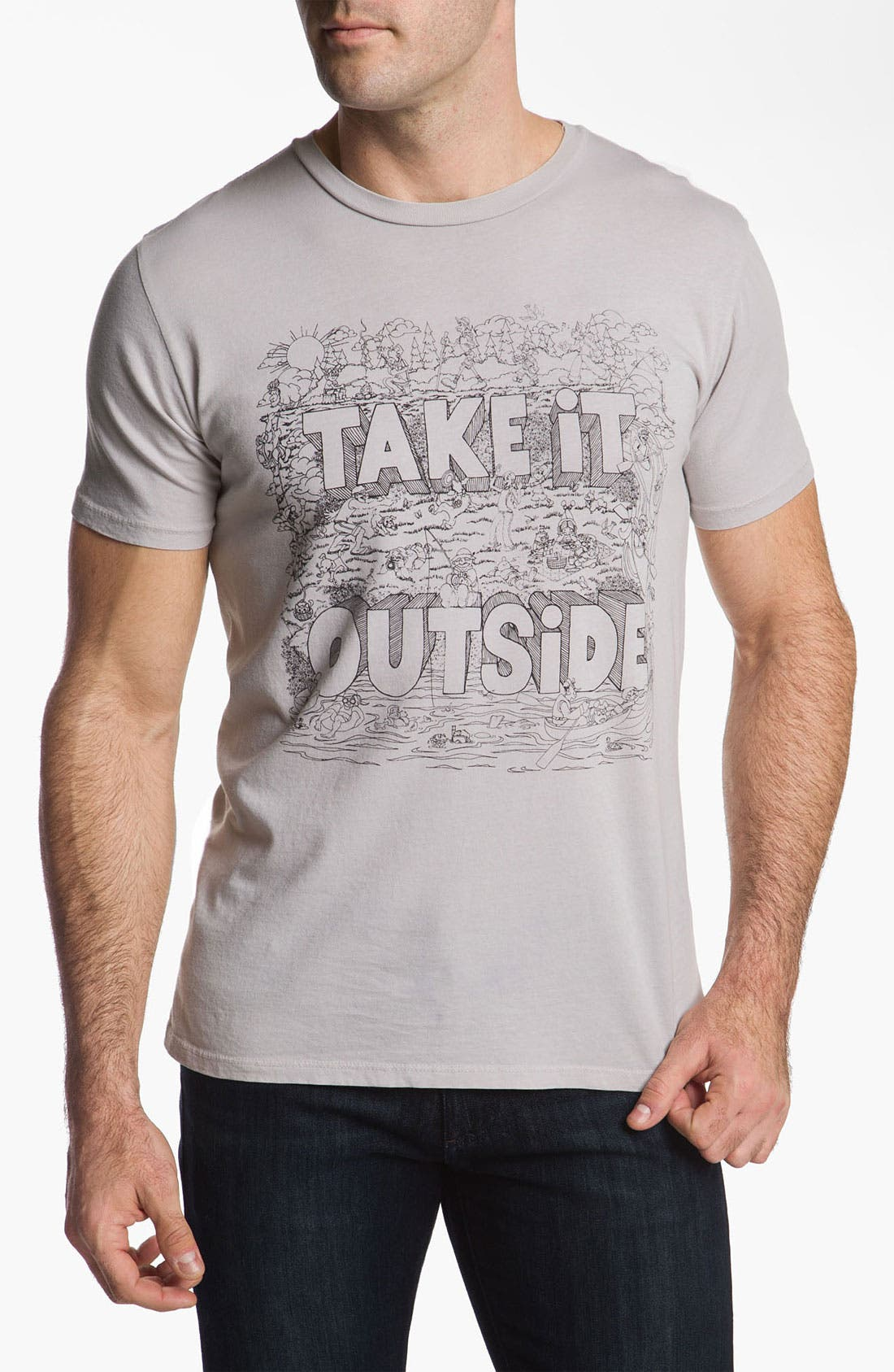 Alternate Image 1 Selected - Toddland 'Take It Outside' T-Shirt