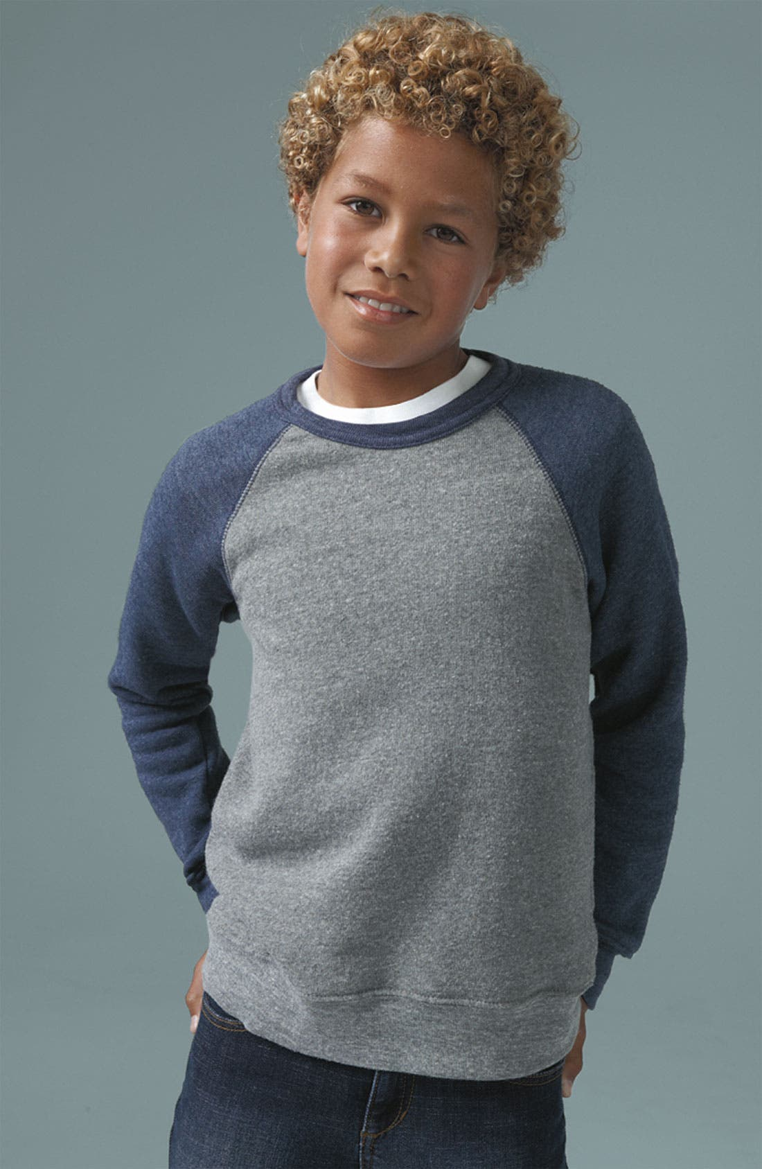 Alternate Image 2  - Alternative Colorblock Sweatshirt (Big Boys)