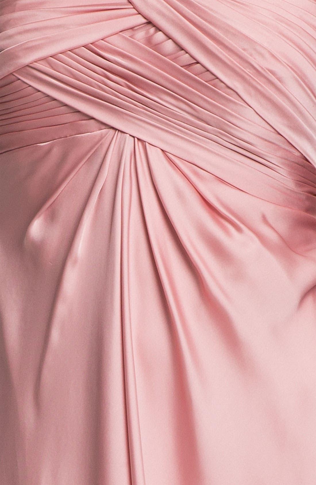 Alternate Image 3  - ML Monique Lhuillier Bridesmaids One Shoulder Gown (Nordstrom Exclusive)