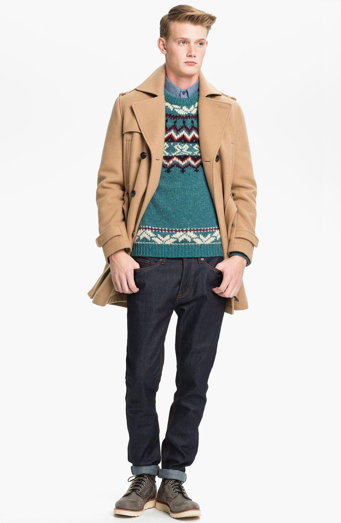 Alternate Image 4  - Topman Pattern Crewneck Sweater