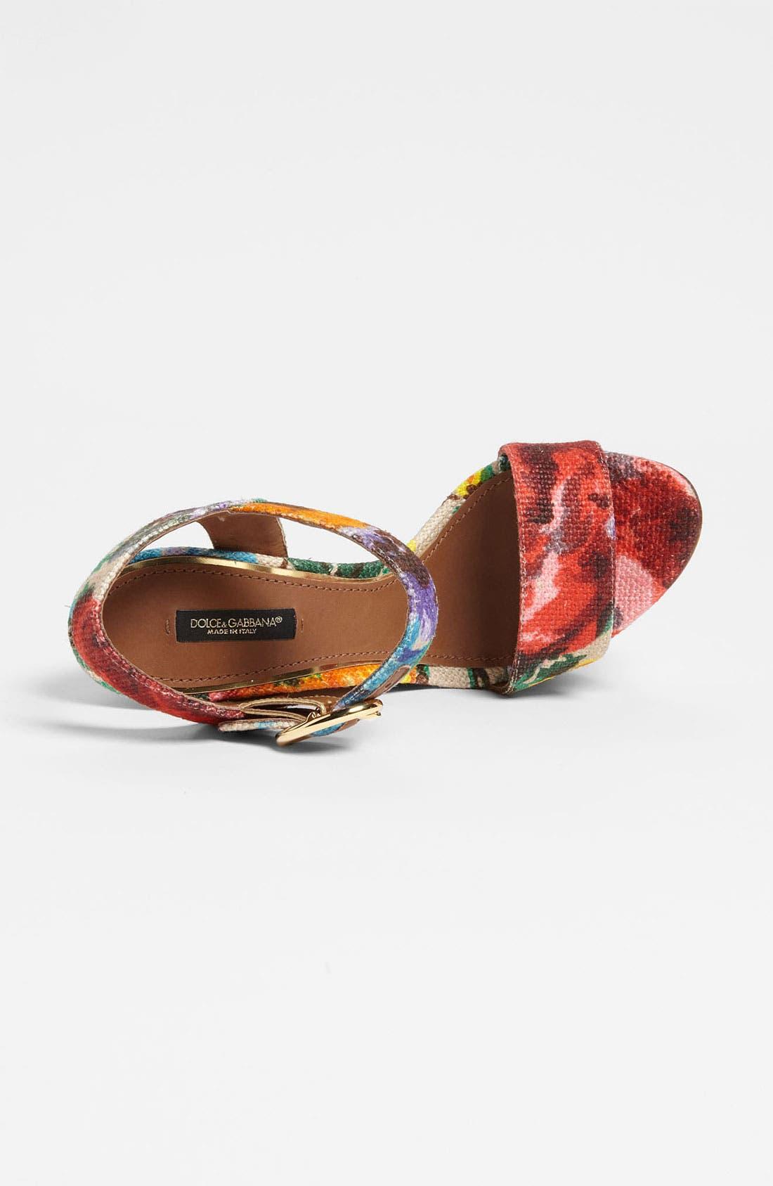 Alternate Image 3  - Dolce&Gabbana Floral Sandal