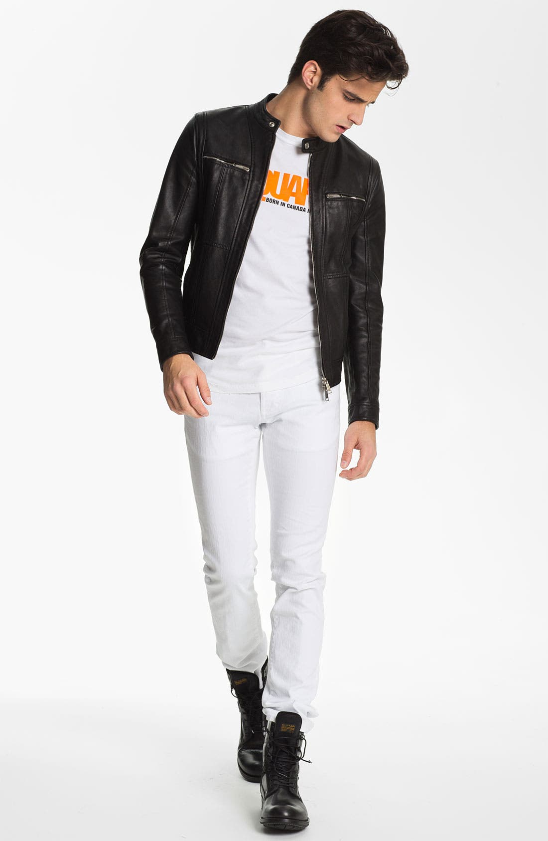 Alternate Image 4  - Dsquared2 Leather Moto Jacket