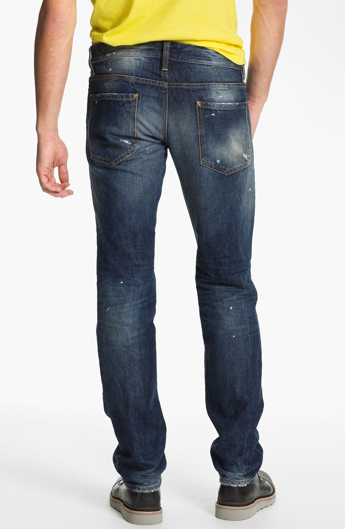 Alternate Image 2  - Dsquared2 Slim Fit Jeans (Distressed Blue)