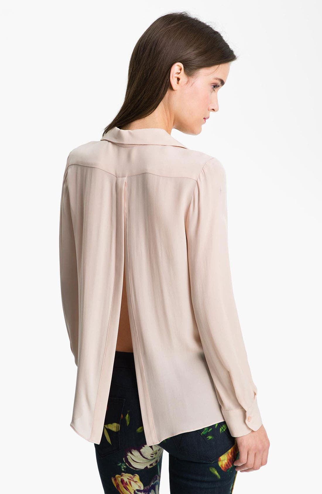 Alternate Image 2  - Parker Split Back Sheer Silk Shirt