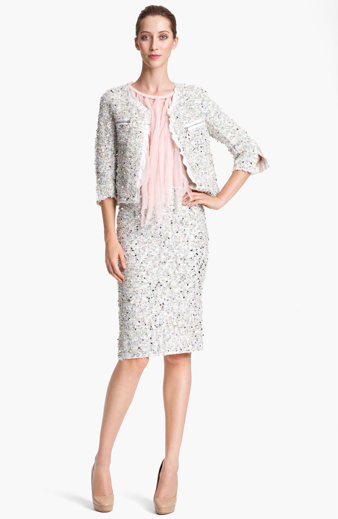 Alternate Image 1 Selected - Nina Ricci Paillette Tweed Jacket