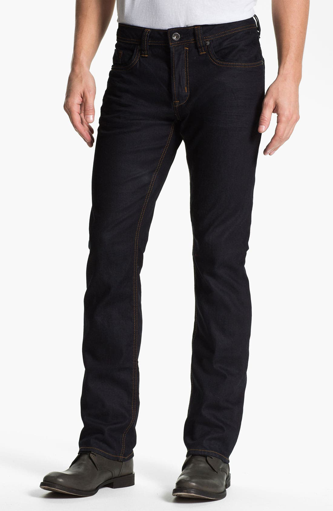 Alternate Image 1 Selected - Buffalo Jeans 'Evan-X' Slim Straight Leg Jeans (Dark/Authentic)