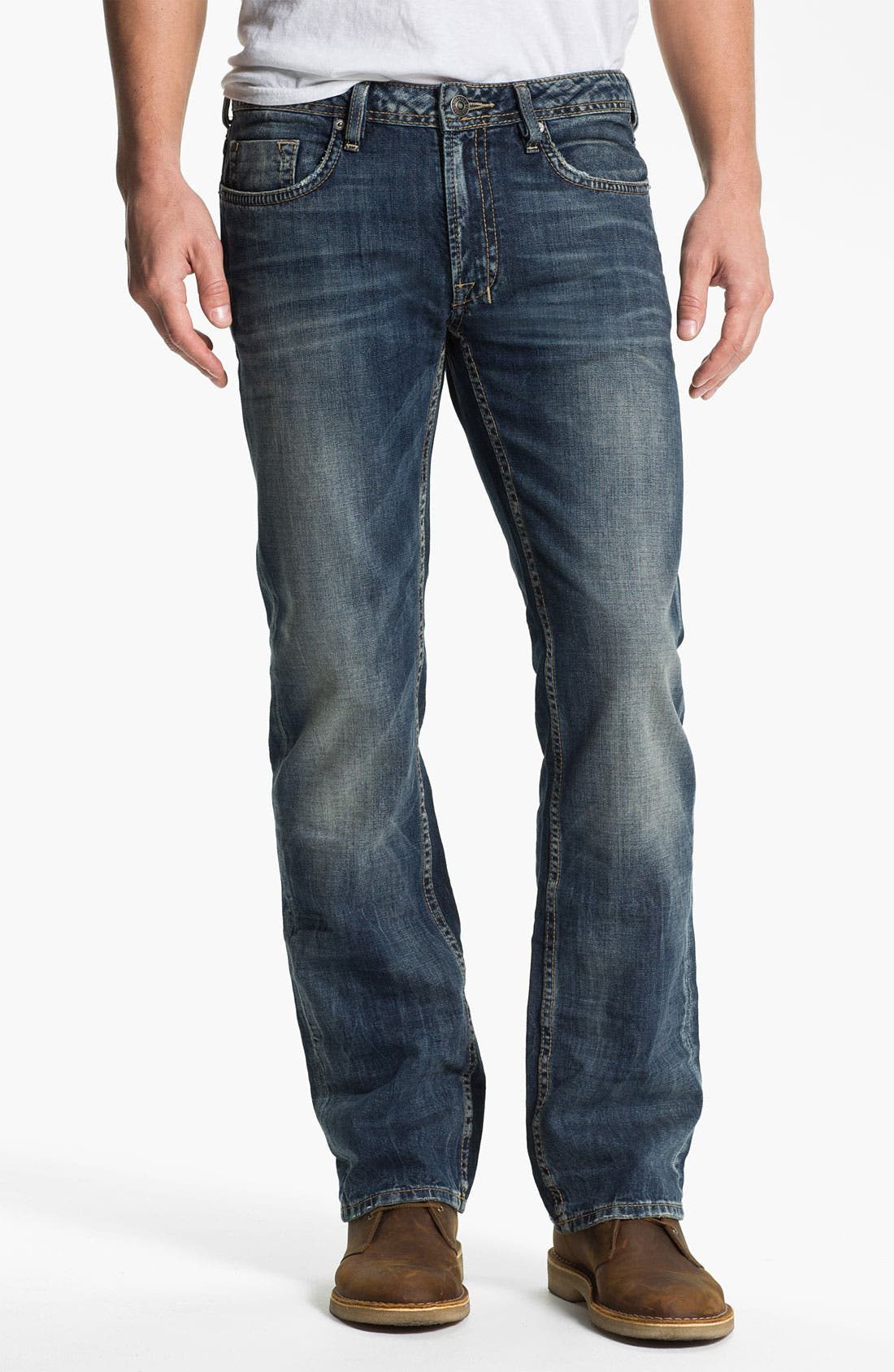 Alternate Image 1 Selected - Buffalo Jeans 'Driven' Straight Leg Jeans (Vintage Worn)