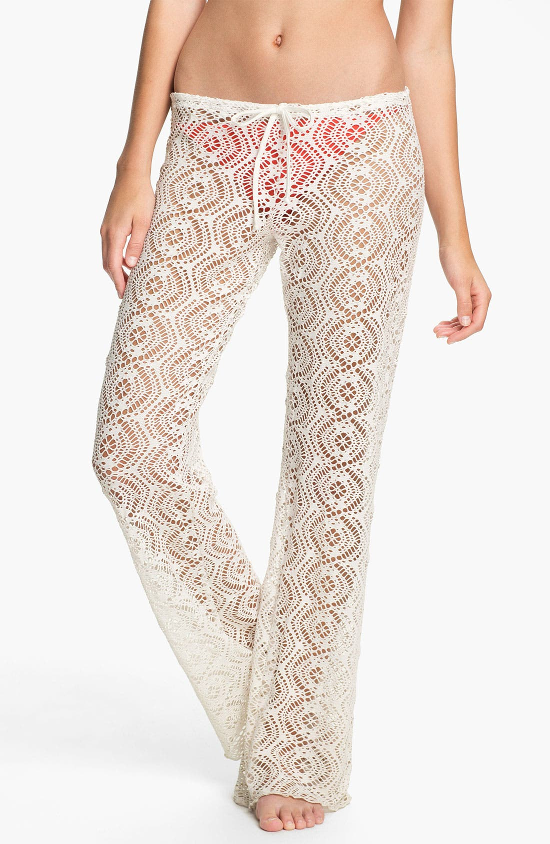 Main Image - Becca Crochet Cover-Up Pants