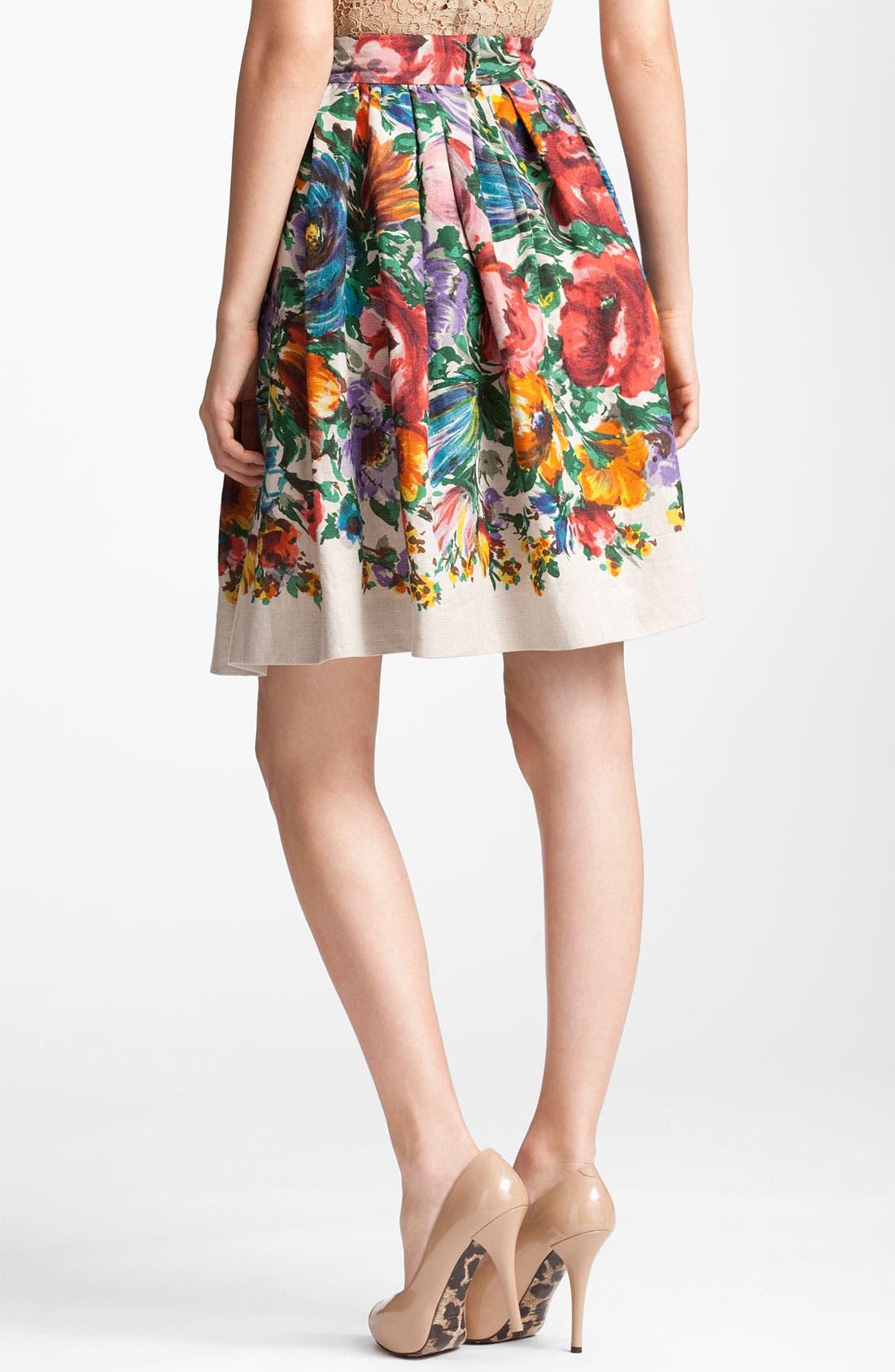 Alternate Image 2  - Dolce&Gabbana Flower Print Skirt