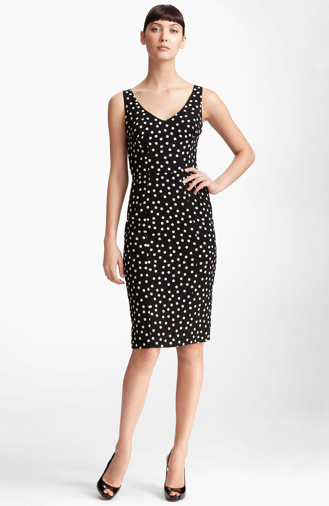 Alternate Image 1 Selected - Dolce&Gabbana Polka Dot Stretch Cady Dress