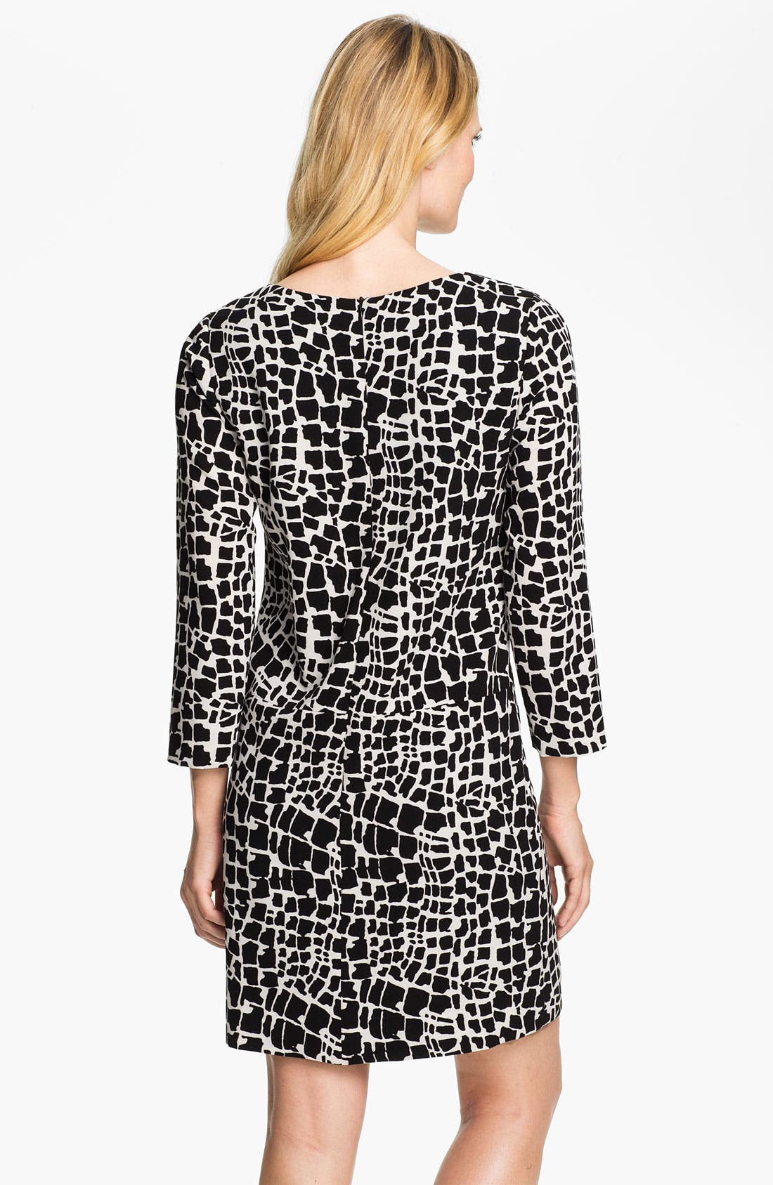 Alternate Image 2  - Tahari Graphic Print Shift Dress
