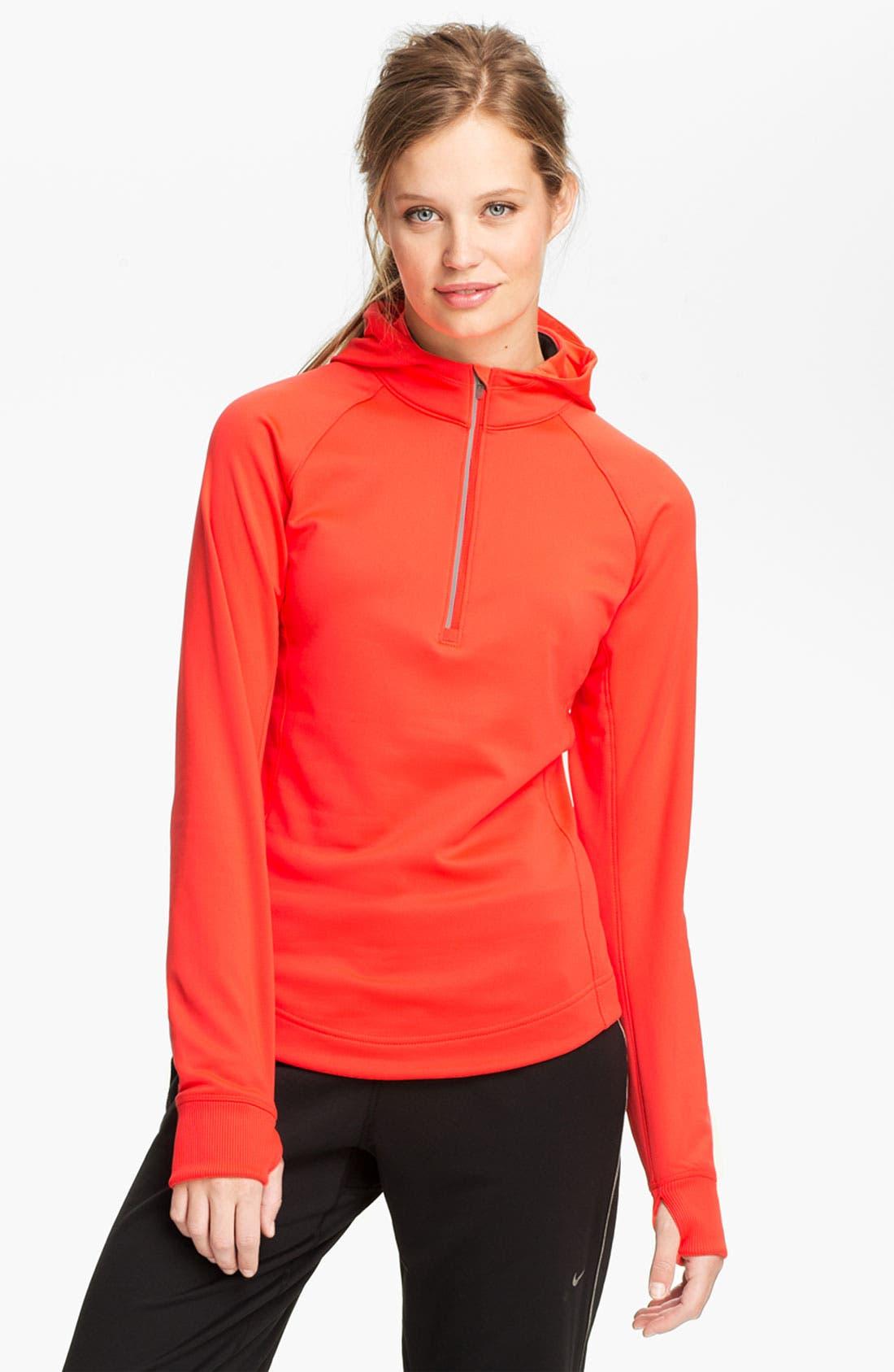 Alternate Image 1 Selected - Nike 'Element' Thermal Half Zip Hoodie