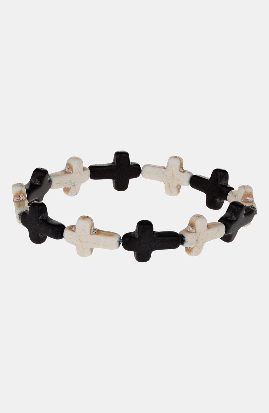 Alternate Image 1 Selected - Topman Cross Stretch Bracelet