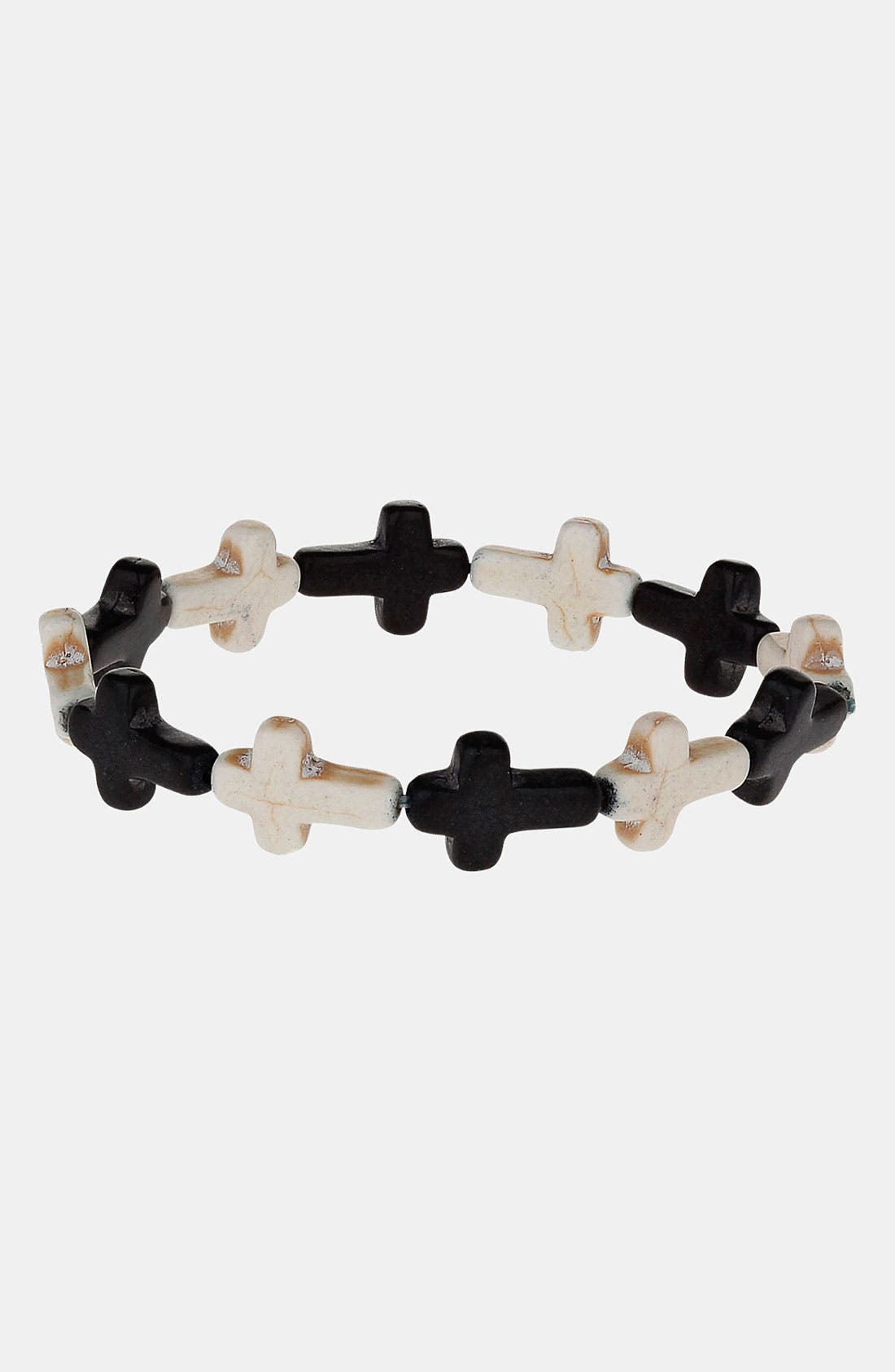 Main Image - Topman Cross Stretch Bracelet