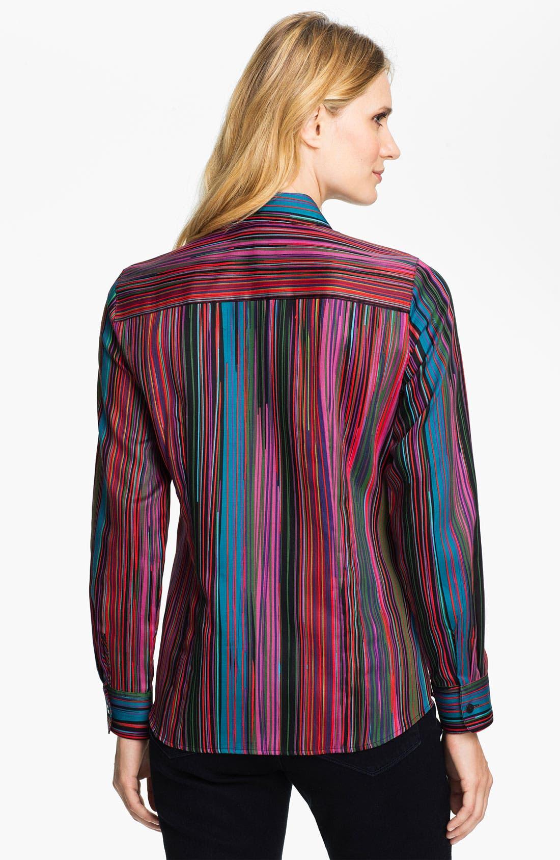Alternate Image 2  - Foxcroft 'Broadway Stripe' Shirt