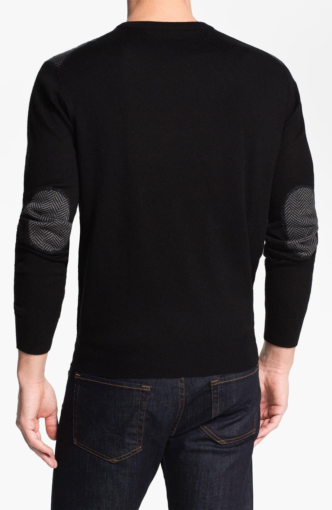 Alternate Image 2  - Toscano Wool Blend Crewneck Sweater
