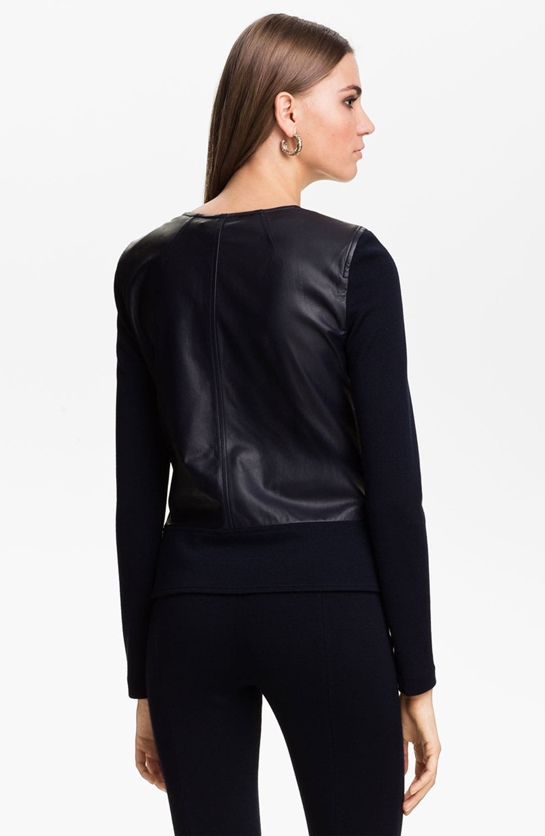 Alternate Image 4  - St. John Collection Nappa Leather Jacket