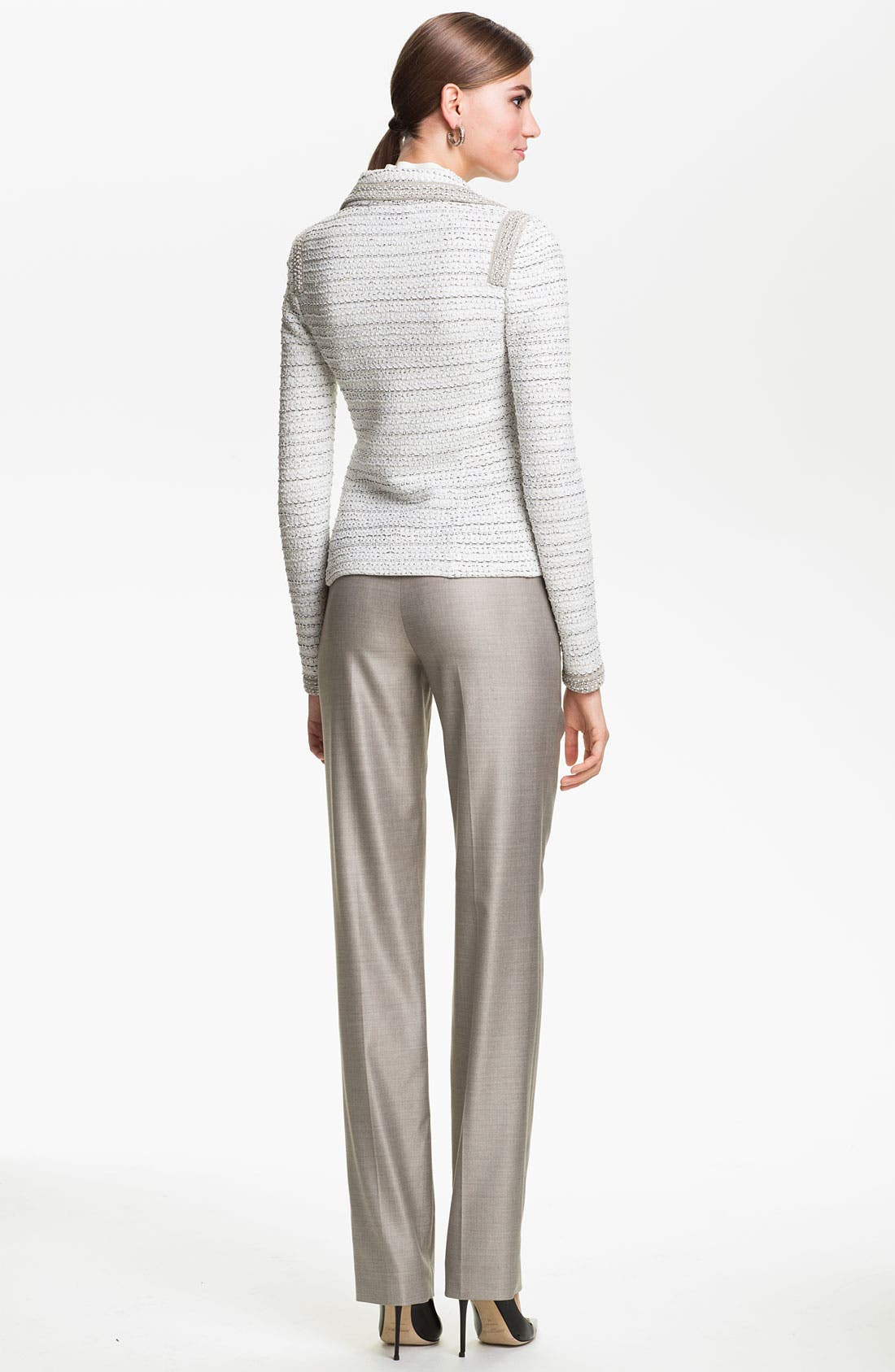 Alternate Image 5  - St. John Collection 'Diana' Straight Leg Mélange Twill Pants
