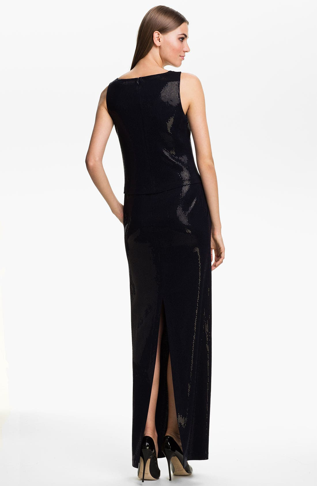 Alternate Image 2  - St. John Collection Sleeveless Sequin Knit Gown