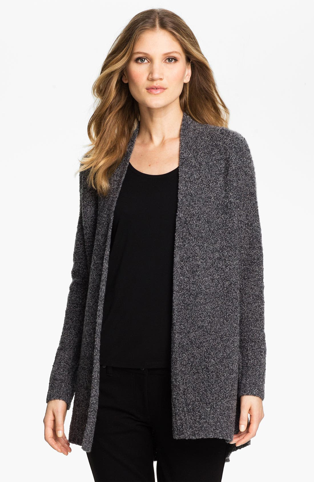 Alternate Image 1 Selected - Eileen Fisher Drape Front Long Cardigan (Online Exclusive)