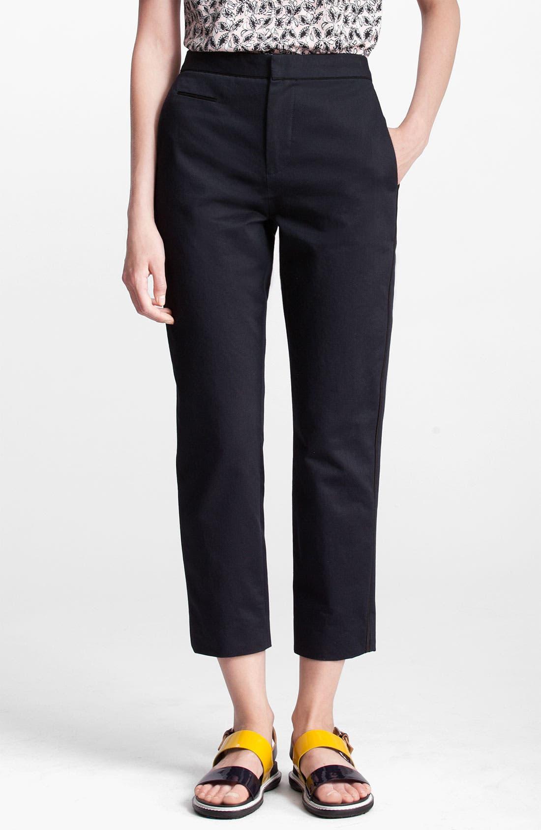 Alternate Image 1 Selected - Marni Edition Tuxedo Trim Crop Pants