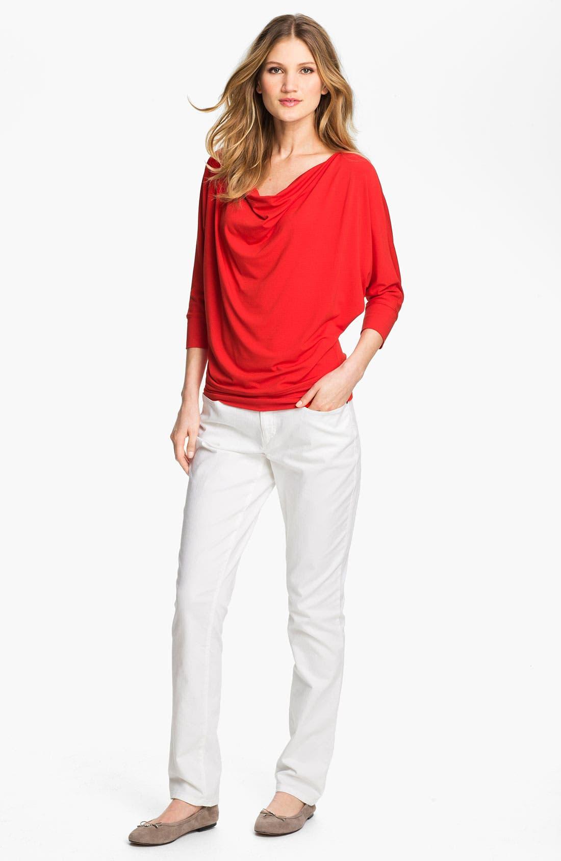 Alternate Image 4  - Eileen Fisher Drape Neck Jersey Top