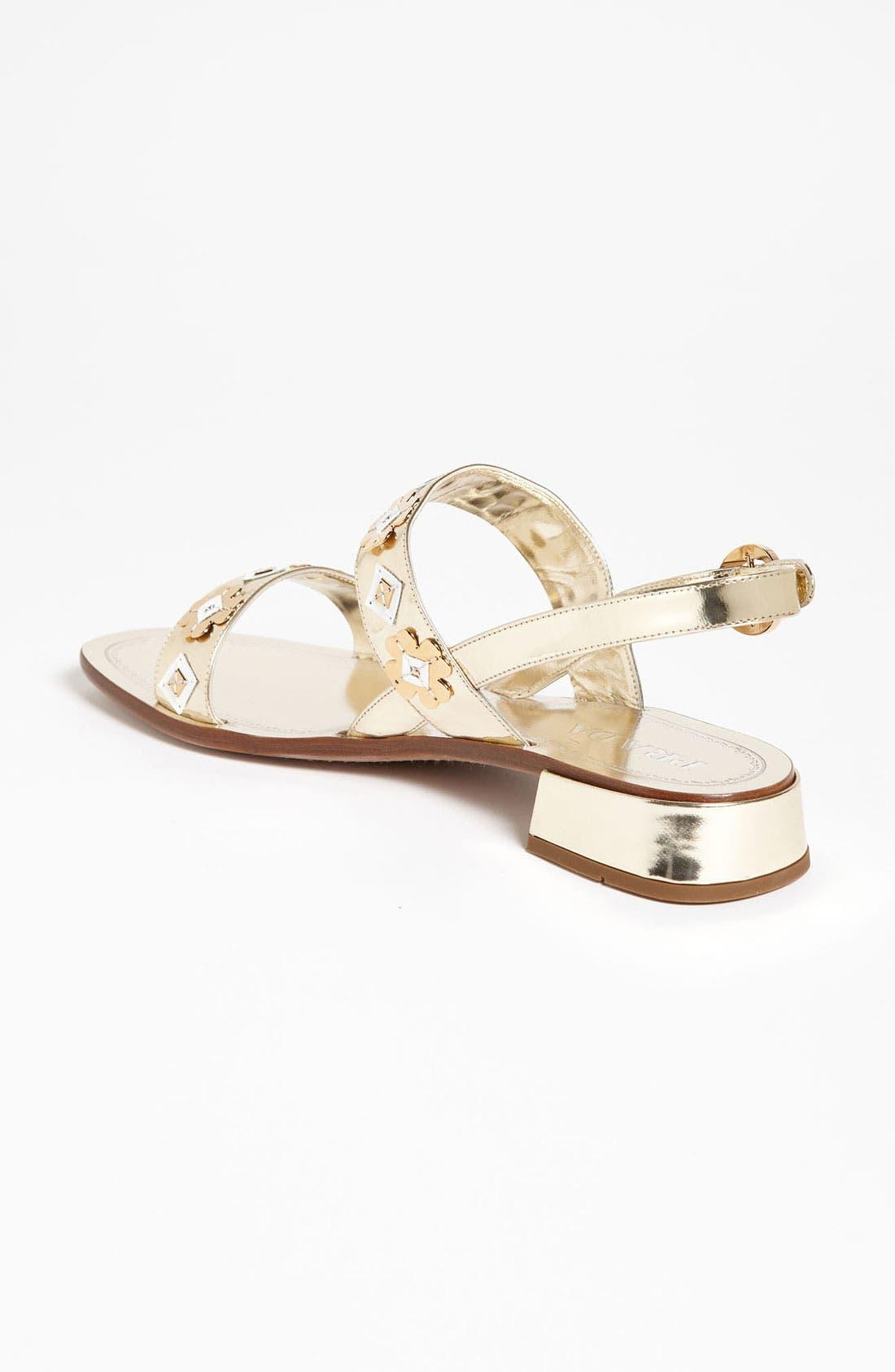 Alternate Image 2  - Prada Two Strap Appliqué Sandal